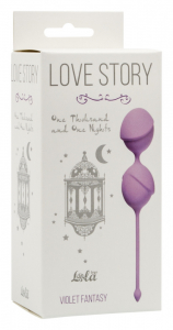 Вагинальные шарики Love Story One Thousand and One Nights Violet Fantasy